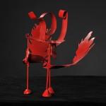 Rood IJzerdraad vogel