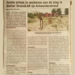 krantenartikel-belevingsinstalatie